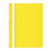 Skoroszyt OFFICE PRODUCTS, PP, A4, miękki, 100/170mikr., wpinany, żółty, Skoroszyty do segregatora, Archiwizacja dokumentów