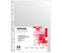 Punched Pockets OFFICE PRODUCTS, PP, A4, orange peel, 40 micron, 100pcs