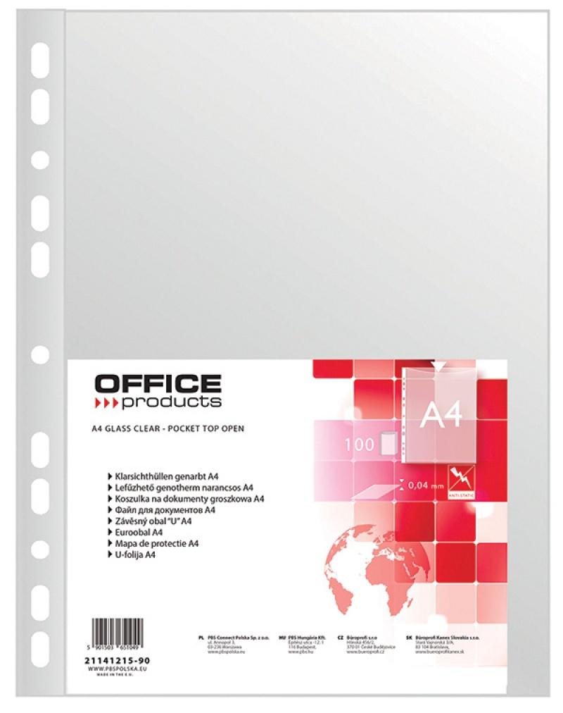 Koszulki na dokumenty PP A4 groszkowe 40mikr. 100szt., Koszulki i obwoluty, Archiwizacja dokumentów