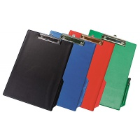 Clipboard Q-CONNECT Board, with a clip, PVC, A4, assorted colours