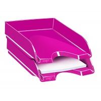 Szufladka na biurko CEPPro Gloss, polistyren, różowa, Szufladki na biurko, Drobne akcesoria biurowe