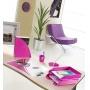 Kosz na śmieci CEPPro Gloss, polistyren, różowy, Kosze plastik, Wyposażenie biura