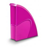 Pojemnik na dokumenty Pro Gloss polistyren różowy, Pojemniki na katalogi, Archiwizacja dokumentów