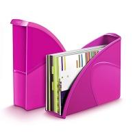 Pojemnik na dokumenty CEPPro Gloss, polistyren, różowy, Pojemniki na dokumenty i czasopisma, Archiwizacja dokumentów