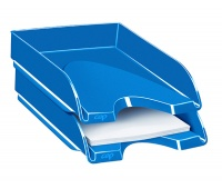 Szufladka na biurko CEPPro Gloss, polistyren, niebieska, Szufladki na biurko, Drobne akcesoria biurowe