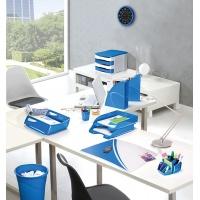 Szufladka na biurko CEPPro Gloss Maxi, polistyren, niebieska, Szufladki na biurko, Drobne akcesoria biurowe