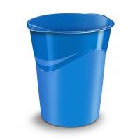 Kosz na śmieci CEPPro Gloss, polistyren, niebieski, Kosze plastik, Wyposażenie biura
