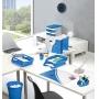 Przybornik na biurko CEPPro Gloss, polistyren, niebieski, Przyborniki na biurko, Drobne akcesoria biurowe