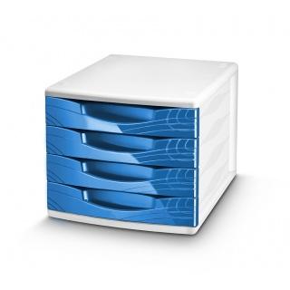 Zestaw 4 szufladek CEP Origins, niebieski, Szufladki - zestawy, Drobne akcesoria biurowe