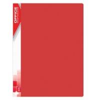Teczka ofertowa OFFICE PRODUCTS, PP, A4, 520mikr., 10 koszulek, czerwona, Teczki ofertowe, Archiwizacja dokumentów