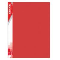 Teczka ofertowa OFFICE PRODUCTS, PP, A4, 620mikr., 30 koszulek, czerwona, Teczki ofertowe, Archiwizacja dokumentów