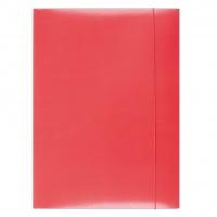 Teczka z gumką OFFICE PRODUCTS, karton, A4, 300gsm, 3-skrz., czerwona, Teczki płaskie, Archiwizacja dokumentów