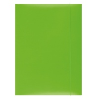 Teczka z gumką OFFICE PRODUCTS, karton, A4, 300gsm, 3-skrz., zielona, Teczki płaskie, Archiwizacja dokumentów