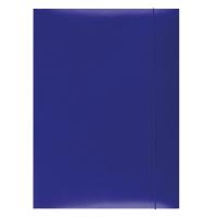 Teczka z gumką OFFICE PRODUCTS, karton, A4, 300gsm, 3-skrz., niebieska, Teczki płaskie, Archiwizacja dokumentów