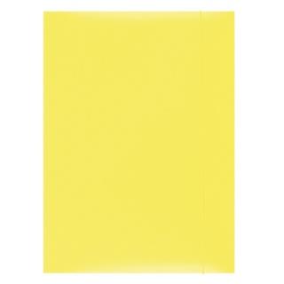 Teczka z gumką OFFICE PRODUCTS, karton, A4, 300gsm, 3-skrz., żółta, Teczki płaskie, Archiwizacja dokumentów