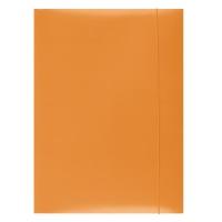 Teczka z gumką OFFICE PRODUCTS, karton, A4, 300gsm, 3-skrz., pomarańczowa, Teczki płaskie, Archiwizacja dokumentów