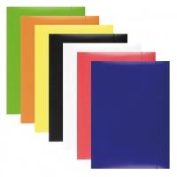 Teczka z gumką OFFICE PRODUCTS, karton, A4, 300gsm, 3-skrz., mix kolorów, Teczki płaskie, Archiwizacja dokumentów