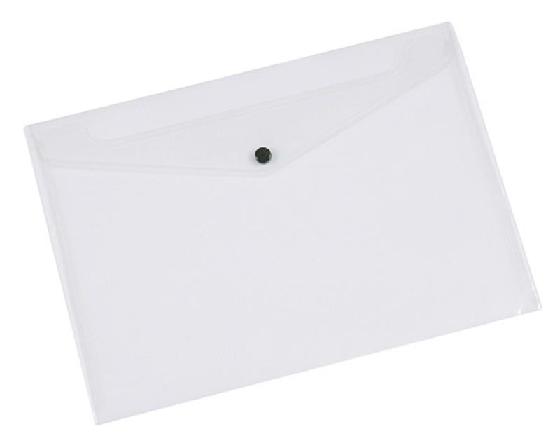 Teczka kopertowa Q-CONNECT zatrzask, PP, A3, 172mikr., transparentna, Teczki płaskie, Archiwizacja dokumentów