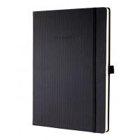 Notatnik SIGEL Conceptum®, okładka w prążki, A4, w kratkę, czarny, Notatniki, Zeszyty i bloki