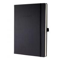 Notatnik Conceptum® okładka w prążki A4 gładki czarny, Notatniki, Zeszyty i bloki