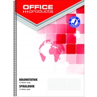 Spiral Notebook OFFICE PRODUCTS, A5, square ruled, 80sheets, 60-80gsm, perforation