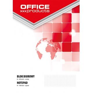 Blok biurowy OFFICE PRODUCTS, A4, w kratkę, 100 kart., 60-80gsm, Bloki, Zeszyty i bloki