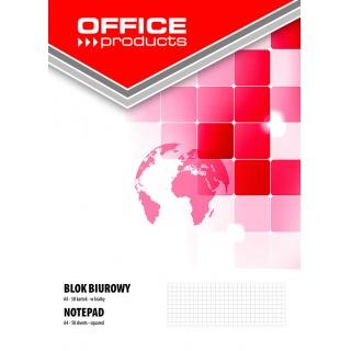 Blok biurowy OFFICE PRODUCTS, A4, w kratkę, 50 kart., 70gsm, Bloki, Zeszyty i bloki