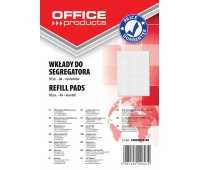 Perforated Binder Refills OFFICE PRODUCTS, A4, square-ruled, 50 sheets, assorted colours