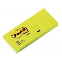 Bloczek samoprzylepny POST-IT® (653), 38x51mm, 3x100 kart., żółty