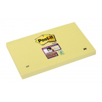 Self-adhesive Pad POST-IT® Super Sticky (655-12SSCY-EU), 127x76mm, 1x90 sheets, yellow