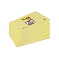 Self-adhesive Pad POST-IT® Super Sticky (655-6SSCY-EU), 127x76mm, 6x90 sheets, yellow
