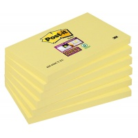 Bloczek samoprzylepny POST-IT® Super Sticky (655-S), 127x76mm, 1x90 kart., żółty