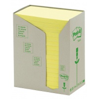 Eco-friendly Self-adhesive Pad POST-IT® (655-1T) 127x76mm 16x100 sheets yellow