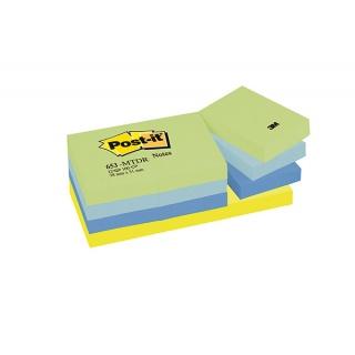Bloczek samoprzylepny POST-IT® (653-MTDR), 38x51mm, 12x100 kart., paleta marzycielska