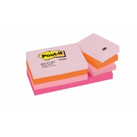 Bloczek samoprzylepny POST-IT® (653-FLJO), 38x51mm, 12x100 kart., paleta radosna