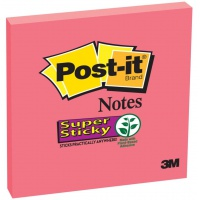 Self-adhesive Pad POST-IT® Super Sticky (654-6SS-PO), 76x76mm, 90 sheets, red