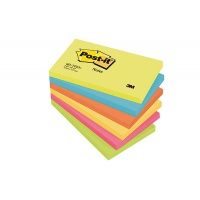 Self-adhesive Pad POST-IT® (655-TFEN) 127x76mm 6x100 sheets energetic palette