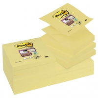 Self-adhesive Pad POST-IT® Super Sticky Z-Notes (R330-12SS-CY), 76x76mm, 90 sheets, yellow