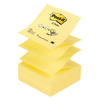 Bloczek samoprzylepny POST-IT® Z-Notes (R-330), 76x76mm, 1x100 kart., żółty