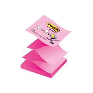 Bloczek samoprzylepny POST-IT® Z-Notes (R330NAP), 76x76mm, 1x100 kart., pastelowy/neonowy róż