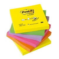 Self-adhesive Pad POST-IT® Z-Notes (R330NR) 76x76mm 6x100 sheets neon