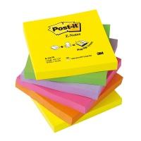Bloczek samoprzylepny POST-IT® Z-Notes (R330-NR), 76x76mm, 6x100 kart., neonowy