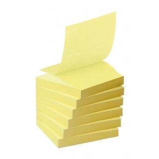 Bloczek samoprzylepny ekologiczny POST-IT® Z-notes (R330-1T), 76x76mm, 16x100 kart., żółty