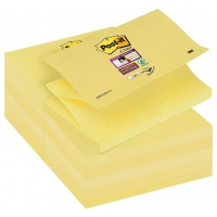Self-adhesive Pad POST-IT® Super Sticky Z-Notes (R350-12SS-CY), 127x76mm, 90 sheets, yellow