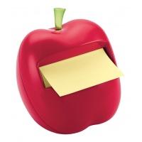 Podajnik do karteczek POST-IT® (APL-330) w kształcie jabłka, czerwony, bloczek GRATIS, Bloczki samoprzylepne, Papier i etykiety