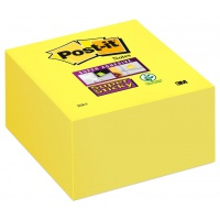 Self-adhesive Cube POST-IT® Super Sticky (2028-S), 76x76mm, 350 sheets, ultra yellow