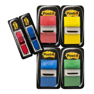 Zestaw promocyjny POST-IT® (680-VAD5EU), PP, 25,4x43,2mm/11,9x43,2mm, 4x50/2x24 kart., mix kolorów
