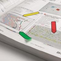 Zakładki indeksujące POST-IT® (684-ARR3), PP, 11,9x43,2mm, strzałka, 4x24 kart., mix kolorów, Zakładki indeksujące, Papier i etykiety