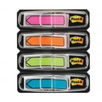 Zakładki indeksujące POST-IT® (684-ARR4), PP, 11,9x43,2mm, strzałka, 4x24 kart., mix kolorów neonowy, Zakładki indeksujące, Papier i etykiety