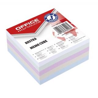 Kostka OFFICE PRODUCTS nieklejona, 85x85x40mm, mix kolorów, Kostki, Papier i etykiety
